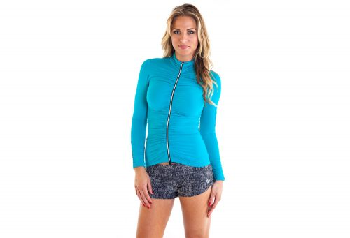 Alii Sport Adriana Ruched Jacket - Women's - teal, x-large