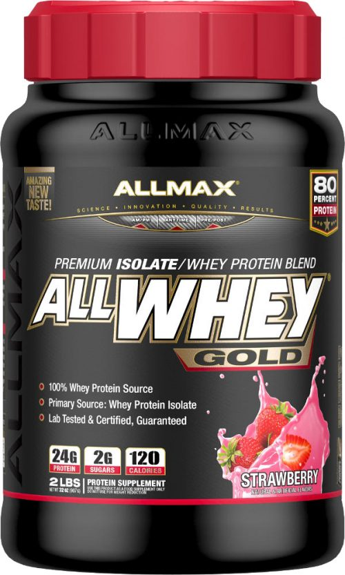 AllMax Nutrition AllWhey Gold - 2lbs Strawberry