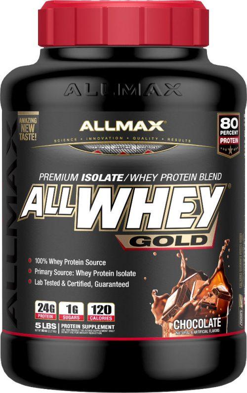 AllMax Nutrition AllWhey Gold - 5lbs Chocolate