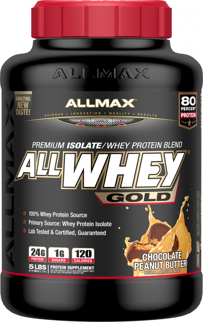 AllMax Nutrition AllWhey Gold - 5lbs Chocolate Peanut Butter