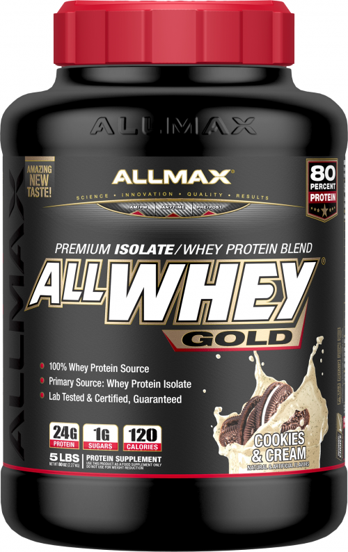 AllMax Nutrition AllWhey Gold - 5lbs Cookies & Cream
