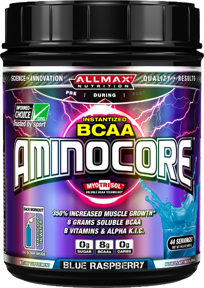 AllMax Nutrition AminoCore - 44 Servings - Legacy Label Fruit Punch