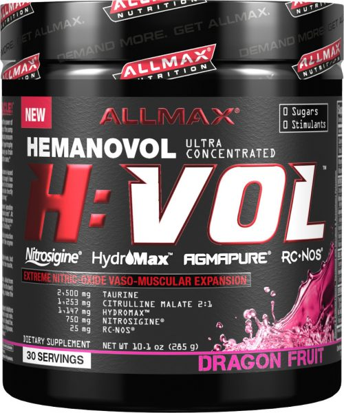 AllMax Nutrition H:VOL - 30 Servings Dragon Fruit