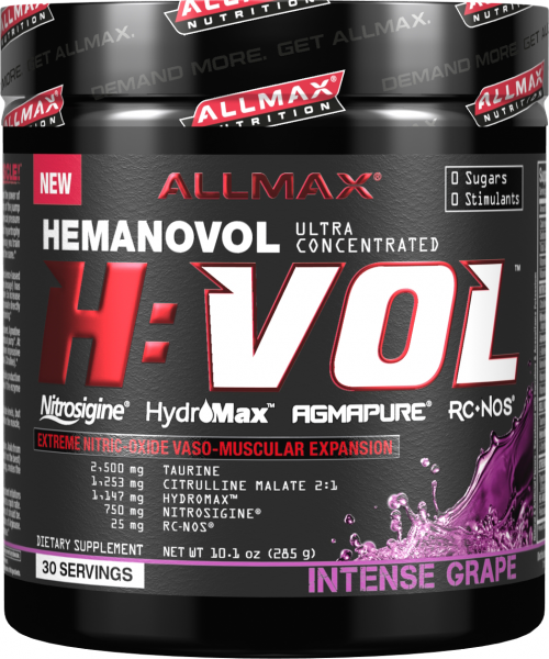 AllMax Nutrition H:VOL - 30 Servings Intense Grape