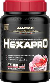 AllMax Nutrition HexaPro - 3lbs Strawberry