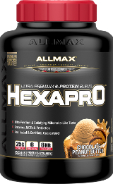 AllMax Nutrition HexaPro - 5.5lbs Peanut Butter Chocolate - Exp. 1/18