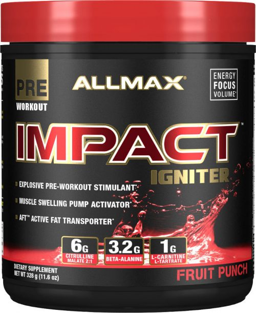 AllMax Nutrition Impact Igniter - 328g Fruit Punch