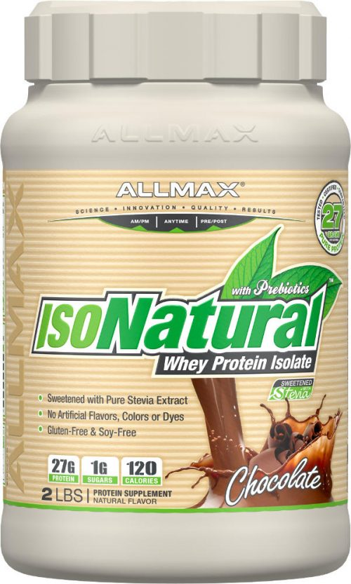 AllMax Nutrition IsoNatural - 2lbs Chocolate