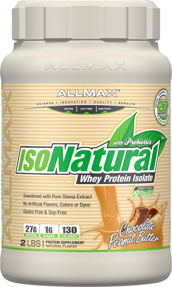 AllMax Nutrition IsoNatural - 2lbs Chocolate Peanut Butter