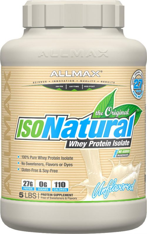 AllMax Nutrition IsoNatural - 5lbs Unflavored