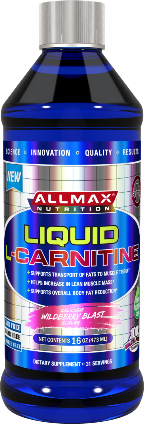 AllMax Nutrition Liquid L-Carnitine - 16 Fl. Oz. Wildberry Blast