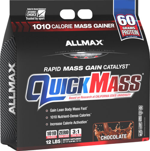 AllMax Nutrition QuickMass Loaded - 12lbs Chocolate