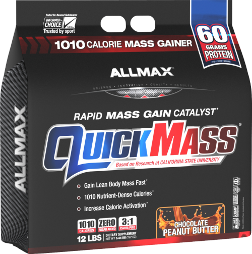 AllMax Nutrition QuickMass Loaded - 12lbs Chocolate Peanut Butter