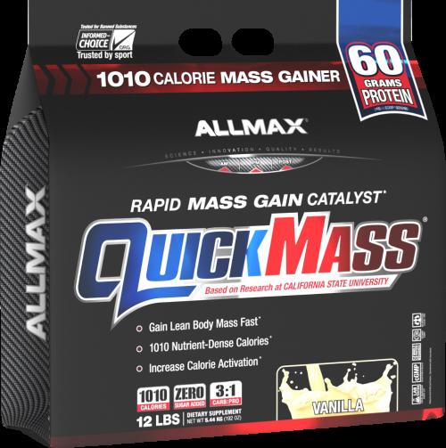 AllMax Nutrition QuickMass Loaded - 12lbs Vanilla