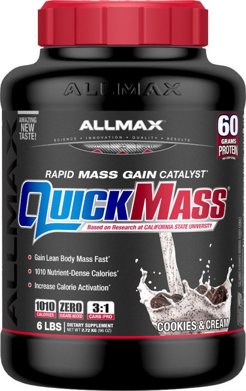 AllMax Nutrition QuickMass Loaded - 6lbs Cookies & Cream