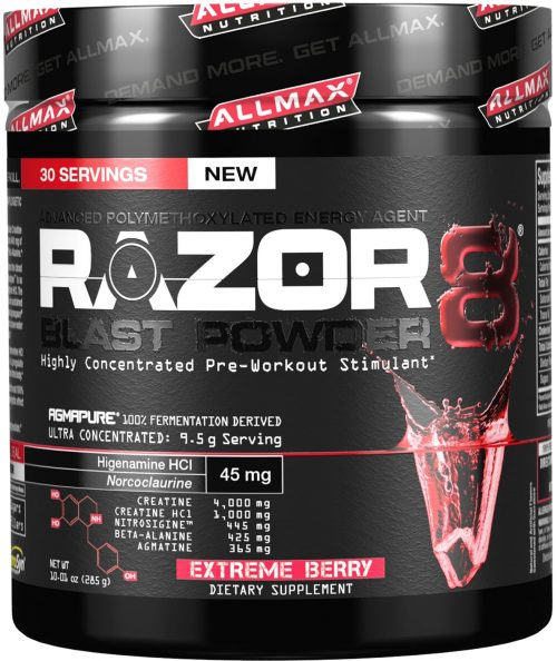 AllMax Nutrition Razor8 Blast Powder - 30 Servings Extreme Berry