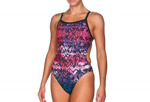 Arena Ombre Challenge Back One Piece - Women's - pink/black, 32