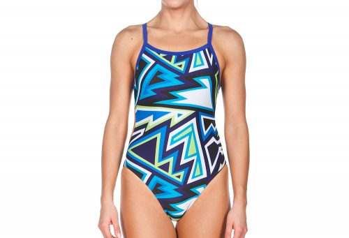 Arena Tulum Challenge Back One Piece - Women's - danube blue/multi, 32