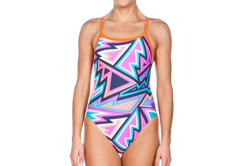 Arena Tulum Challenge Back One Piece - Women's - navy/mango, 32