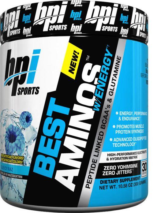 BPI Sports Best Aminos w/ Energy - 30 Servings Blue Icy Raz