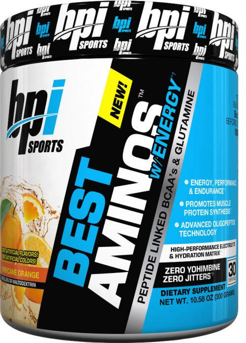 BPI Sports Best Aminos w/ Energy - 30 Servings Hurricane Orange