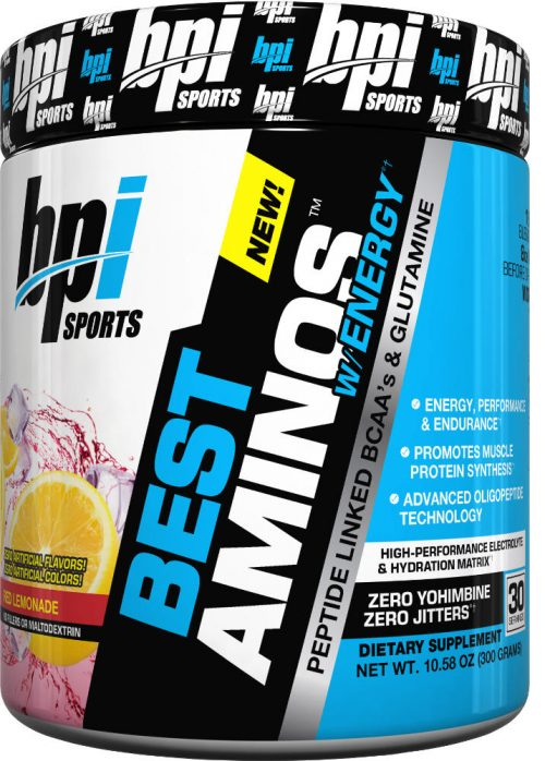 BPI Sports Best Aminos w/ Energy - 30 Servings Red Lemonade