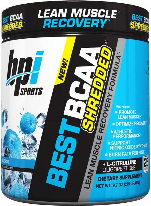 BPI Sports Best BCAA Shredded - 25 Servings Blue Raz