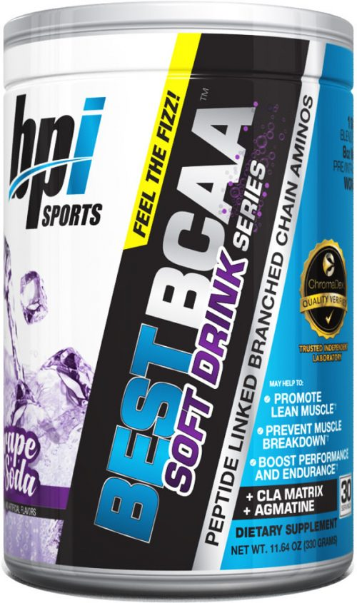 BPI Sports Best BCAA Soft Drink Series - 30 servings Grape Soda