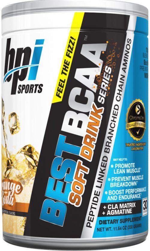 BPI Sports Best BCAA Soft Drink Series - 30 servings Orange Soda
