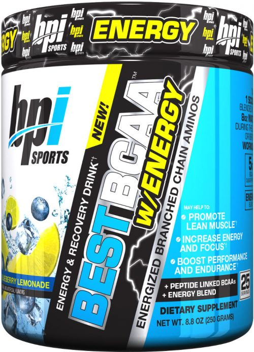 BPI Sports Best BCAA W/Energy - 25 Servings Blueberry Lemonade
