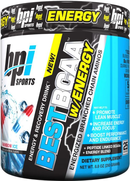 BPI Sports Best BCAA W/Energy - 25 Servings Rainbow Ice