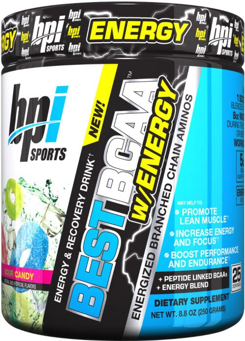 BPI Sports Best BCAA W/Energy - 25 Servings Sour Candy