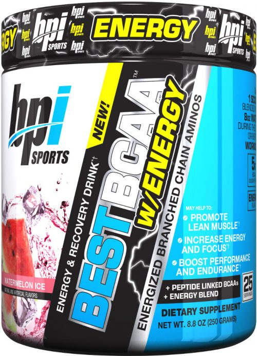 BPI Sports Best BCAA W/Energy - 25 Servings Watermelon Ice