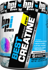 BPI Sports Best Creatine - 50 Servings Rainbow Ice