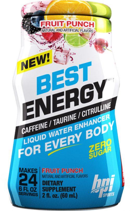 BPI Sports Best Energy Liquid Water Enhancer - 1 Bottle (24sv per Bott