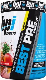 BPI Sports Best Pre Workout - 30 Servings Blue Lemon Ice