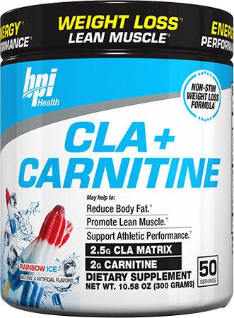 BPI Sports CLA + Carnitine - 50 Servings Rainbow Ice