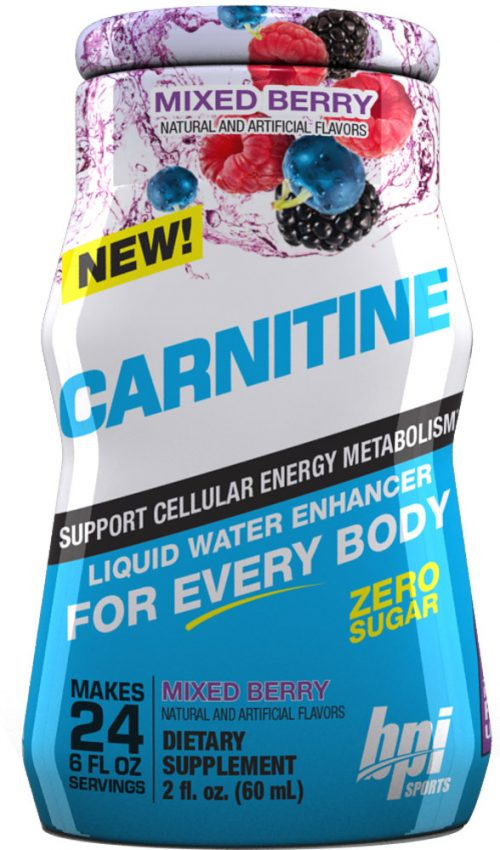 BPI Sports Carnitine Liquid Water Enhancer - 1 Bottle (24sv per Bottle