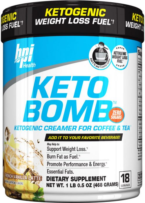 BPI Sports Keto Bomb - 18 Servings French Vanilla Latte