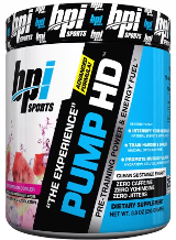 BPI Sports Pump HD - 25 Servings Blueberry Lemon Freeze