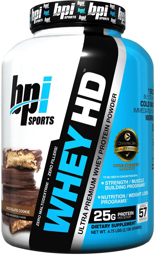 BPI Sports Whey-HD - 4.1lbs Chocolate Cookie