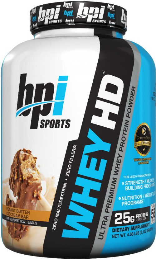 BPI Sports Whey-HD - 4.1lbs Peanut Butter Ice Cream Bar