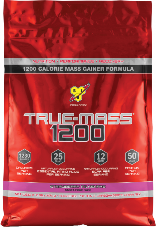 BSN True-Mass 1200 - 10.25lbs Strawberry Milkshake