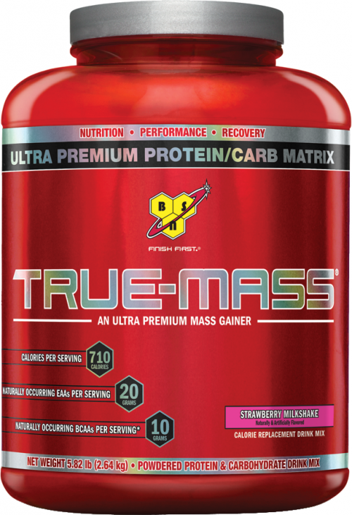 BSN True-Mass - 5.82lbs Strawberry Milk Shake