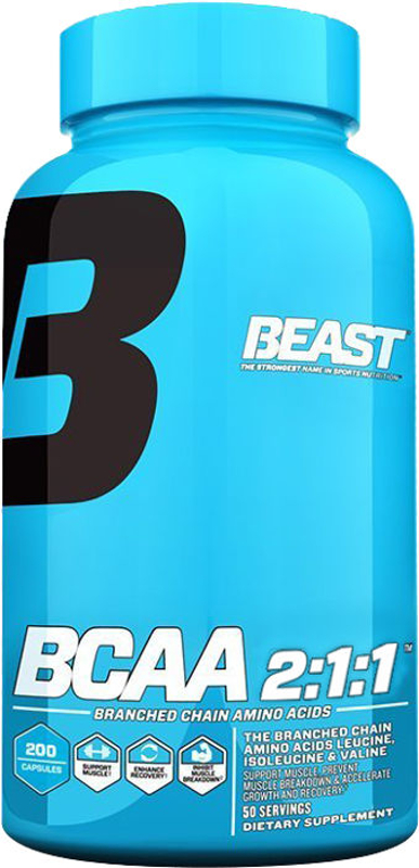 Beast Sports Nutrition BCAA 2:1:1 - 200 Capsules