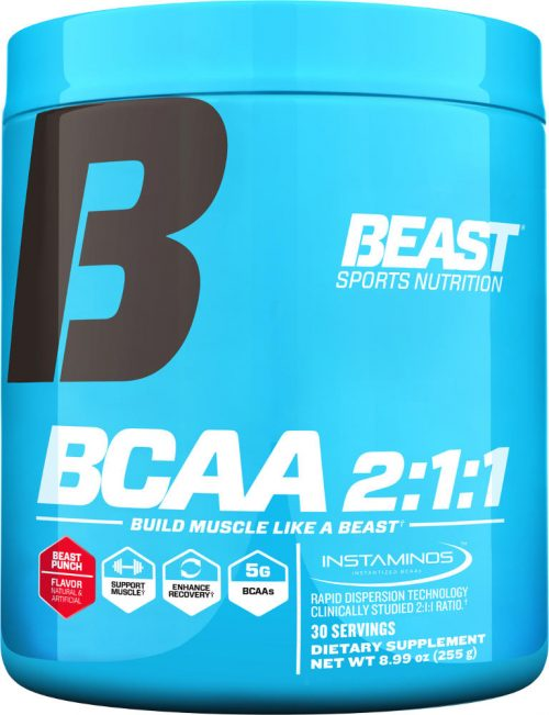 Beast Sports Nutrition BCAA 2:1:1 Powder - 30 Servings Beast Punch