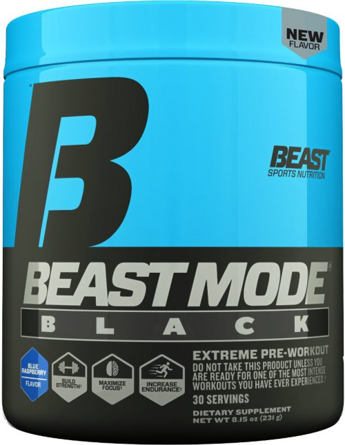 Beast Sports Nutrition Beast Mode Black - 30 Servings Blue Raspberry