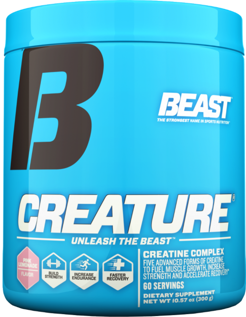 Beast Sports Nutrition Creature Powder - 60 Servings Pink Lemonade