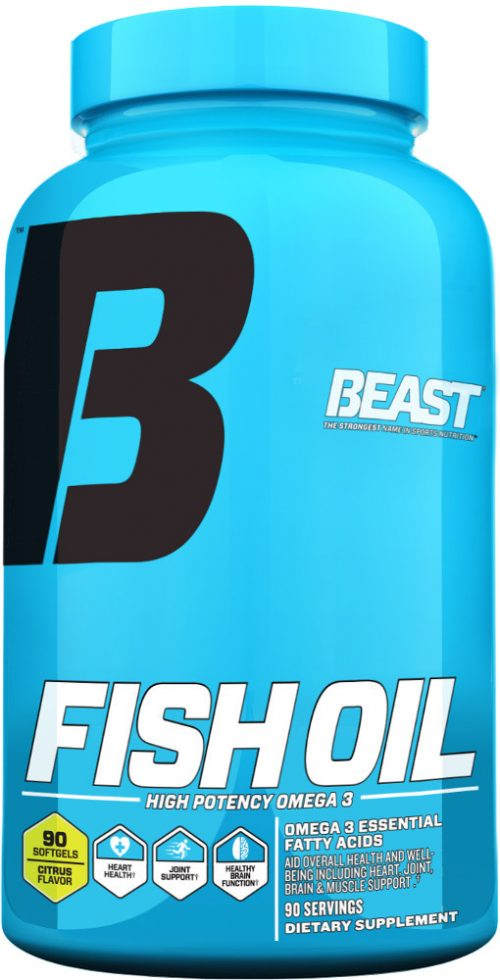 Beast Sports Nutrition Fish Oil - 90 Softgels Citrus
