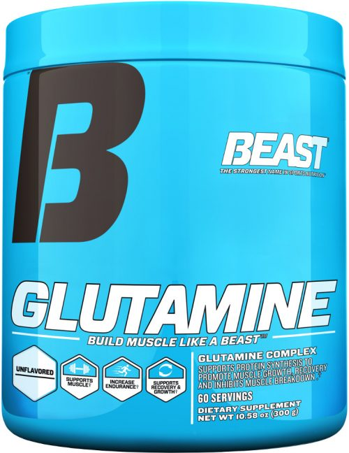 Beast Sports Nutrition Glutamine - 300 Grams Unflavored